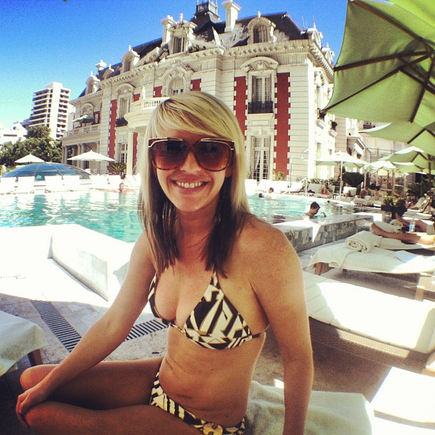 Jenny poolside at Four Seasons Buenos Aires