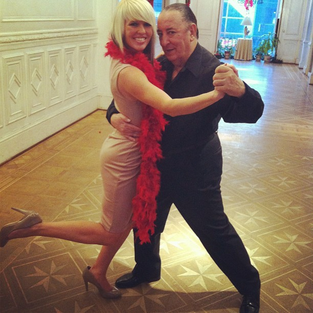Jenny with Hector Mayoral, the most famous living Tango dancer