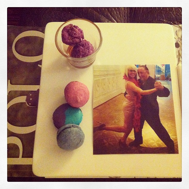 Macaroons and Tango photo from the Four Seasons