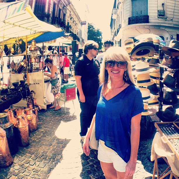 Jenny at the San Telmo Flea Market in Buenos Aires