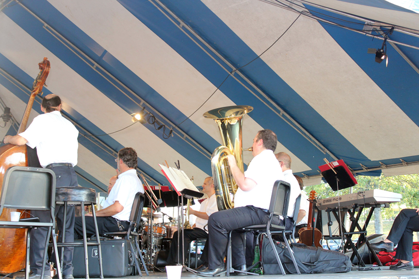 Closeup of Cincinnati Pops Orchestra