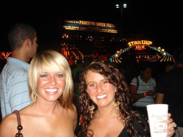 Jenny and Jill at Panegyri Greek Fest