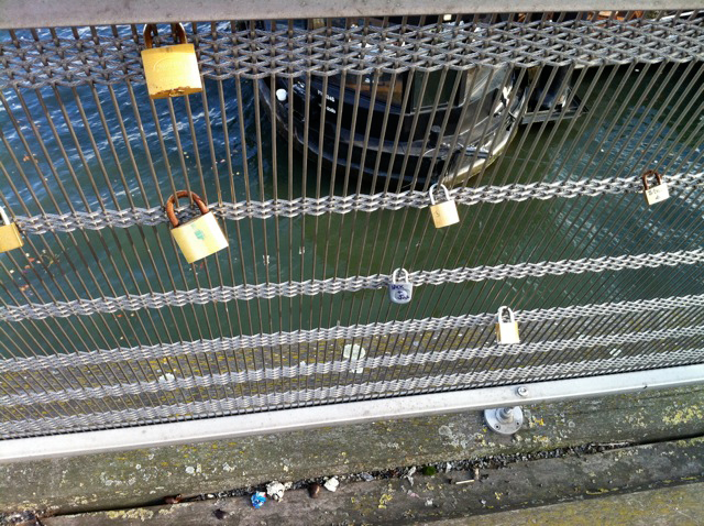 Our lock in a less-populated area