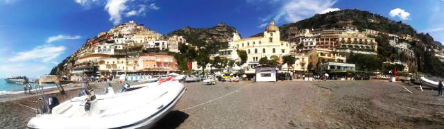 Panorama of Positano Beach