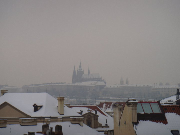 View of Prague Castle from the roof