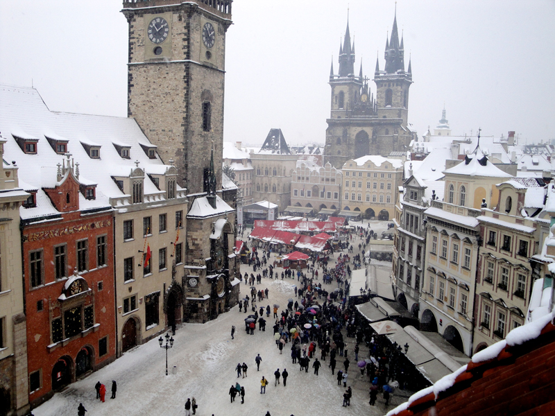 View of Old Town Square from the rooftop