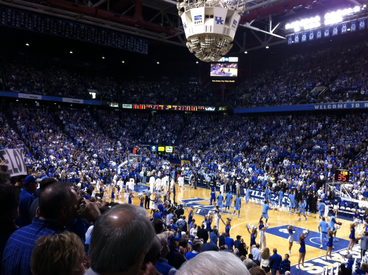 Rupp Arena for UK/UNC Game 2011