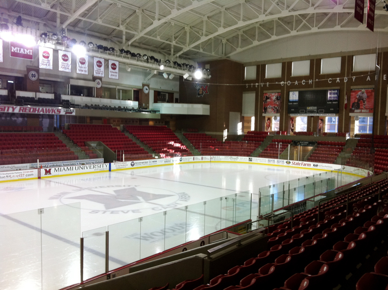 Main arena at the Goggin Ice Center