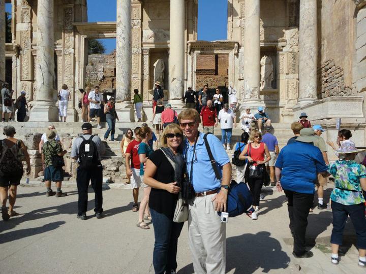Jim and Patti in Greece