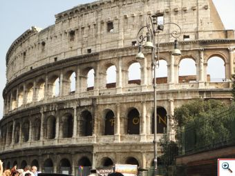 Our view of the Colosseum
