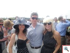 Jill, Bryan Smith, and Jenny in 2011 at Keeneland