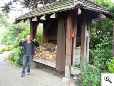 Jeff restocking our firewood at Hyatt Carmel Highlands resort