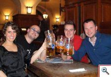 Jill, Michel, Sven, and Nick at Hofbräuhaus