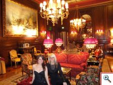 Jill and Jenny in the Sacher lobby