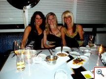 Jill, Julie, Jenny with Polenta and Shortribs at Scarpetta