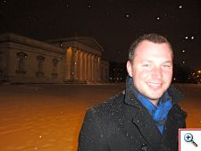 in front of the Glyptothek in Konigsplatz