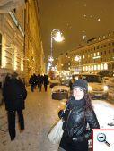 Snowy walk down Brienner Straße