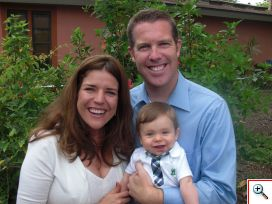 Courtney Black with husband Kevin and son Bennett