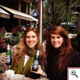 Kristal and Jill with non-alcoholic beer